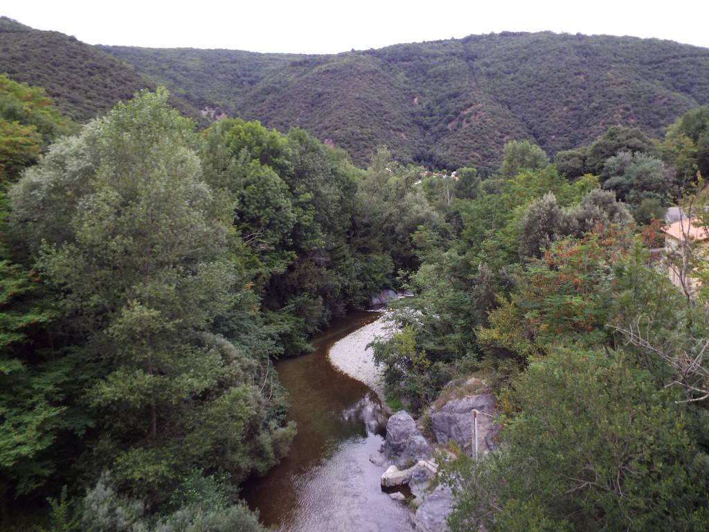 Vado del rio Tec, llamado El pas del Llop, por donde cruzaron los trabucaires, camino de Cortsaví
