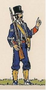 Mozo de escuadra, a mediados del XIX.