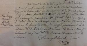 Registre de l'afusellament de Benet Tristany redactat per Plana i Blanc,ecònom de la parròquia de Solsona.