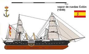vaixell de vapor del tipus que fou emprat per transportar els presoners a Cuba