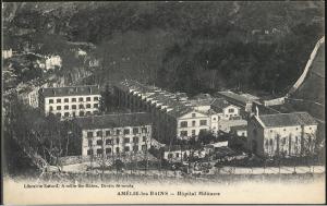 El hospital militar de Els Banys a principios del siglo XX.