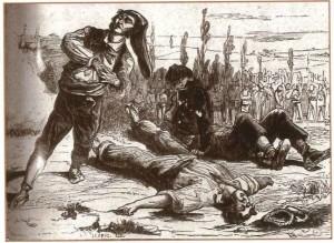 Fusilamiento delos miembros de la partida de Tòful de Vallirana.
