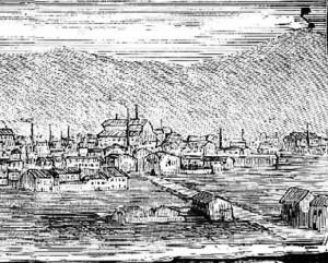 Sabadell industrial a finales del siglo XIX. Imagen de la Ilustración Española y Americana