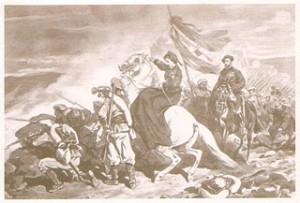 Batalla d'Alpens. María de las Nieves de Braganza, en primer terme.
