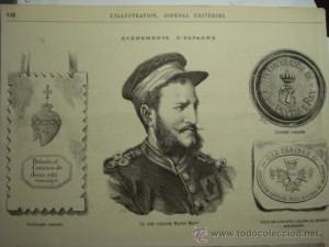 El general Martí Miret. L'Ilustration, 1874