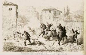 Entrada y muerte de Cabrinetty en Alpens. La Ilustración Española y Americana de 24.7.73