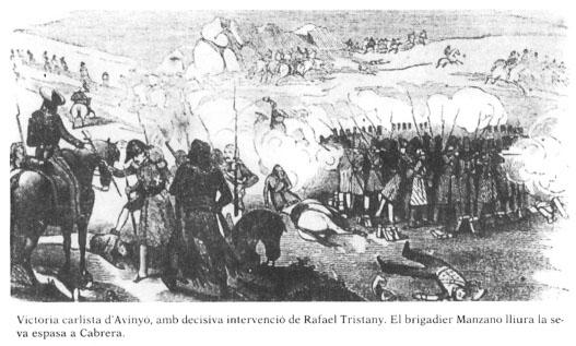Batalla d'Avinyó, en la qual va participar Marçal i per tant, probablement, també el capità Savalls.
