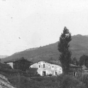 L'hostal de la Corda. Ridaura, Olot. Imatge de la col·lecció del Centre Excursionista de Catalunya. Inici s.XX