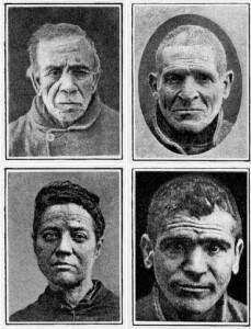 Alguns tipus de criminals nats, segons les teories de Lombroso
